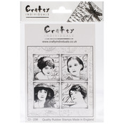 Parisian Beauties - Crafty Individuals Unmounted Rubber Stamp
