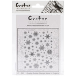Snowflakes Background - Crafty Individuals Unmounted Rubber Stamp