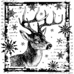 Snowflake Rudolph Crafty Individuals Unmounted Rubber Stamp