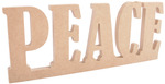 "12.25""X4.75""X.5"" - Beyond The Page MDF Peace Standing Word"