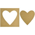 "12""X12"" - Beyond The Page MDF Heart Silhouette Wall Art Frame"