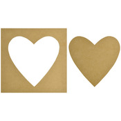 """12""""X12"""" - Beyond The Page MDF Heart Silhouette Wall Art Frame"""