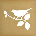 "12""X12"", 9.5""X7"" Cutout - Beyond The Page MDF Bird Silhouette Wall Art Frame"