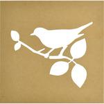 "12""X12"", 9.5""X7"" Cutout - Beyond The Page MDF Bird Silhouette Wall Art Frame"