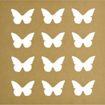"""Beyond The Page MDF Butterflies Silhouette Wall Art Frame-12""""X12"""", 2.5""""X2"""" Cutou"""