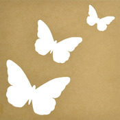 """Beyond The Page MDF Flutter Silhouette Wall Art Frame-12""""X12"""", 3""""X2"""" To 6""""X5"""" Cu"""