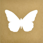 "12""X12"", 8.5""X6"" Cutout - Beyond The Page MDF Butterfly Silhouette Wall Art Fram"