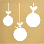"12""X12"" - Beyond The Page MDF Baubles Silhouette Wall Art Frame"