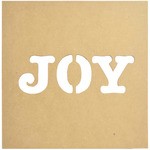 "12""X12"" - Beyond The Page MDF Joy Silhouette Wall Art Frame"