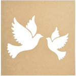 "12""X12"" - Beyond The Page MDF Doves Silhouette Wall Art Frame"