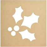 "12""X12"" - Beyond The Page MDF Holly Silhouette Wall Art Frame"