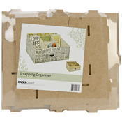 "11.5""X9.75""X6.5"" - Beyond The Page MDF Scrapping Organizer"