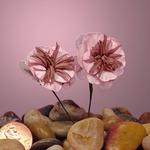 "Pink Crepe Wild Poppy Bouquet 1 1/8"""