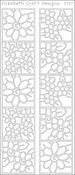 Black - Daisies In Frames Peel-Off Stickers