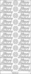 Gold - Happy Birthday Peel-Off Stickers