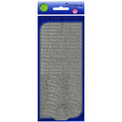 Silver - Assorted Words Peel-Off Stickers