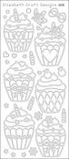 Black - Cupcakes Peel-Off Stickers