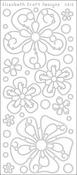 Black - Big Flowers Peel-Off Stickers