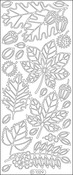 Gold - Fall Leaves Peel-Off Stickers