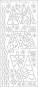 Silver - Christmas Trees 2 Peel-Off Stickers