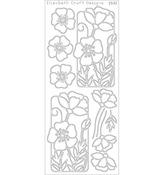 Black - Flower Poppy Peel-Off Stickers