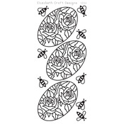 Roses In Ovals Peel - Off Stickers - Black