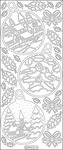 Silver - Christmas Ornament Sceneries Peel-Off Stickers