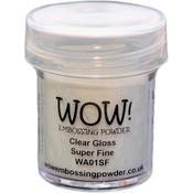 Clear Gloss Super Fine - WOW! Embossing Powder Large Jar 160ml