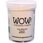 Clear Matte Regular - WOW! Embossing Powder Large Jar 160ml