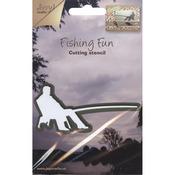 Fishing Fun Fisherman Sitting - Joy! Crafts Cut & Emboss Die