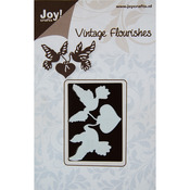 Vintage Flourishes/Dove & Heart - Joy! Crafts Cutting Die