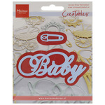 Baby Text & Safety Pin - Marianne Design Creatables Dies
