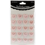 Pink - Bella! Wedding Self-Adhesive Hearts 20/Pkg