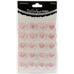 Pink - Bella! Wedding Self-Adhesive Hearts 20/Pkg
