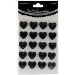 Black - Bella! Wedding Self-Adhesive Hearts 20/Pkg