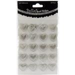 Silver - Bella! Wedding Self-Adhesive Hearts 20/Pkg
