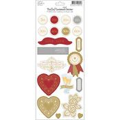 "Bella! Anniversary Foil Cardstock Stickers 4.5""X12""-"