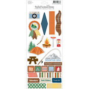 Bella! Camping Foil Cardstock Stickers