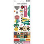 """Bella! School Embossed Cardstock Stickers 4.5""""X12""""-"""