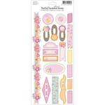 "Bella! Baby Girl Glitter Cardstock Stickers 4.5""X12""-"