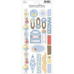 "Bella! Baby Boy Glitter Cardstock Stickers 4.5""X12""-"