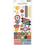 """Bella! Sport Embossed Cardstock Stickers 4.5""""X12""""-"""