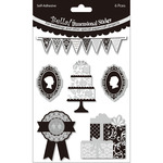 Cake Black & White - Bella! Wedding Glitter & Foil 3D Stickers