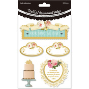 Our Special Day Multi Color - Bella! Wedding Glitter & Foil 3D Stickers