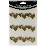 Gold - Bella! Wedding Hearts Foil Stickers 9/Pkg