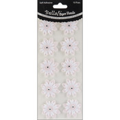Pink - Bella! Wedding Glittered Self-Adhesive Paper Florals 10/Pkg