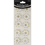 Gold - Bella! Wedding Glittered Self-Adhesive Paper Florals 10/Pkg