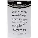 Silver Bella! Wedding Words Cardstock Stickers