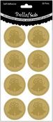 Bells/Gold - Wedding Foiled Seals 20/Pkg