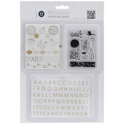 #1 Mini Alpha, Stamp & Glitter Stickers - Empire Bebe Finishing Pack